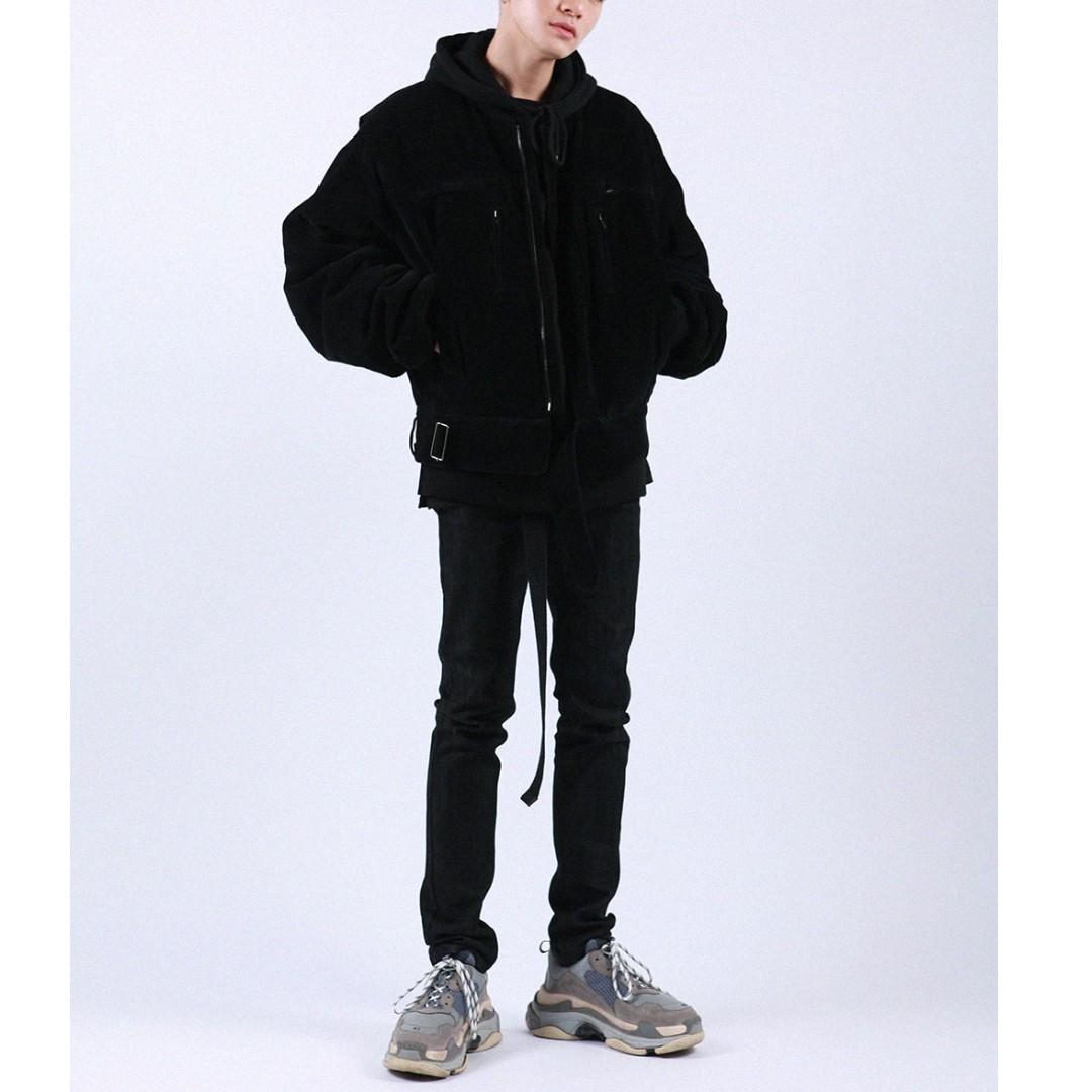 韓國帶回 窄版合身厚磅 牛仔褲