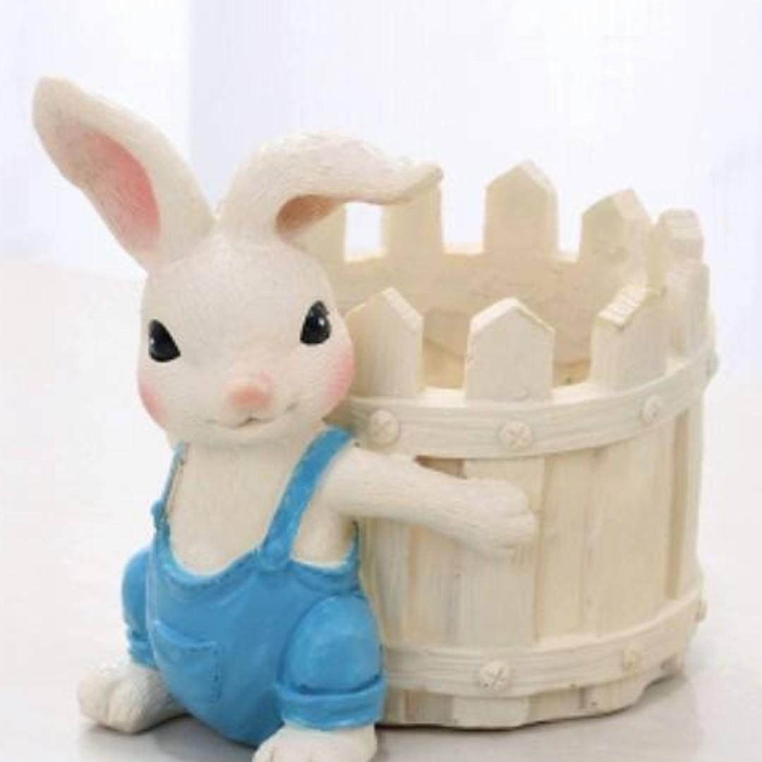 花盆 花器 動物 兔子 多肉植物 擺飾(預定款)
