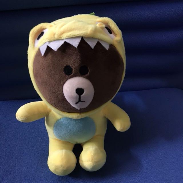 全新 line熊大娃娃玩偶