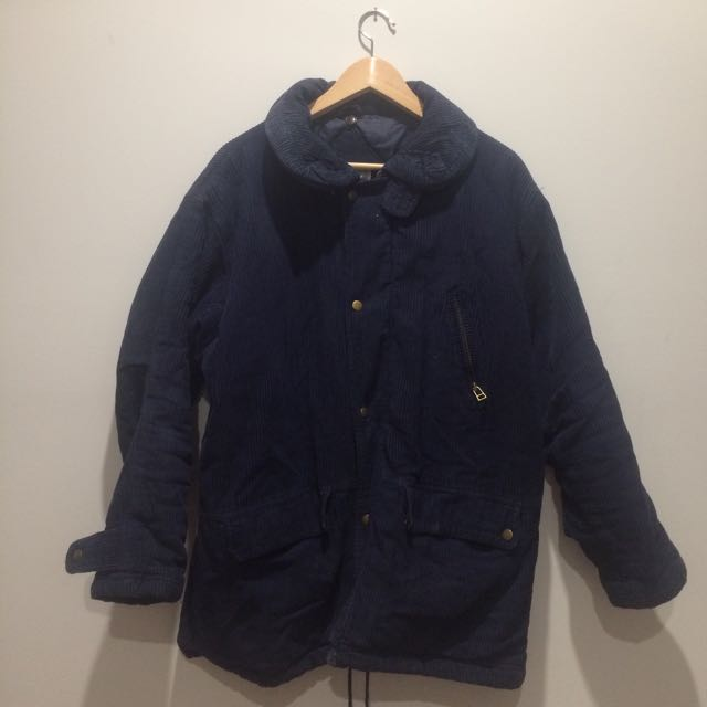 Navy corduroy winter jacket