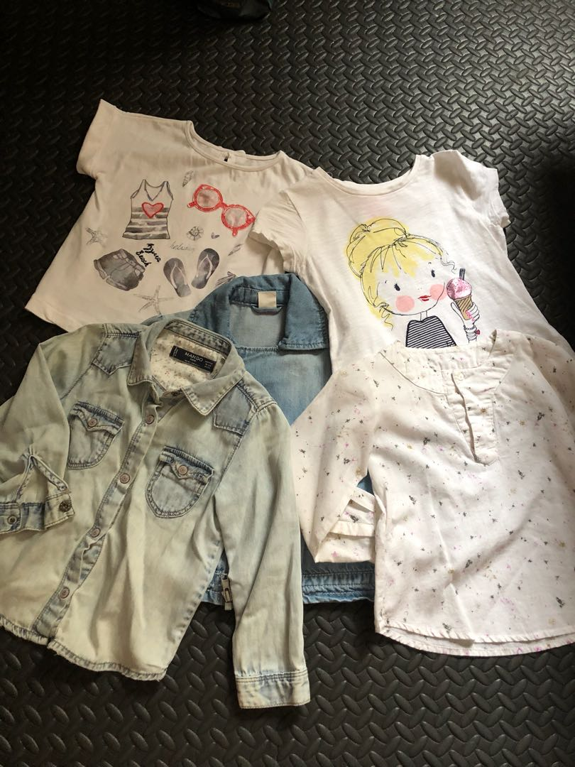 Assorted tops for toddlers