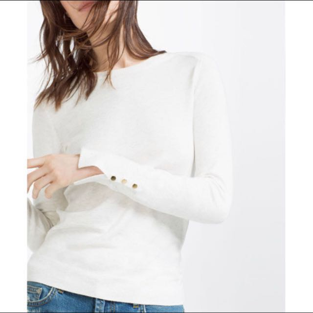 Auth💯 Zara Pearl Beads Embellished Top