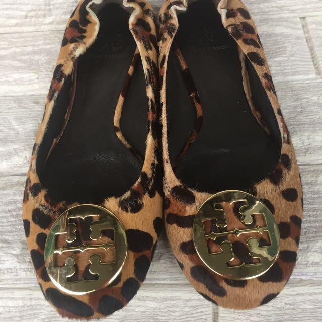 Authentic Tory Burch Leopard Flats