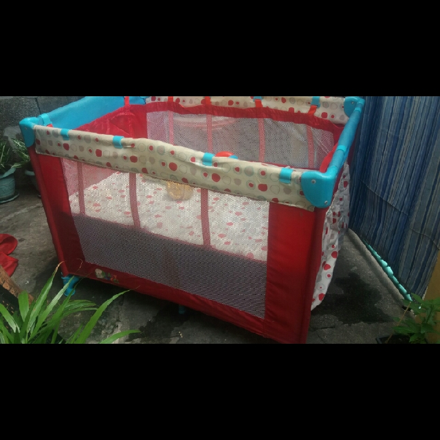 Baby angel crib or duyan playpen 3in1