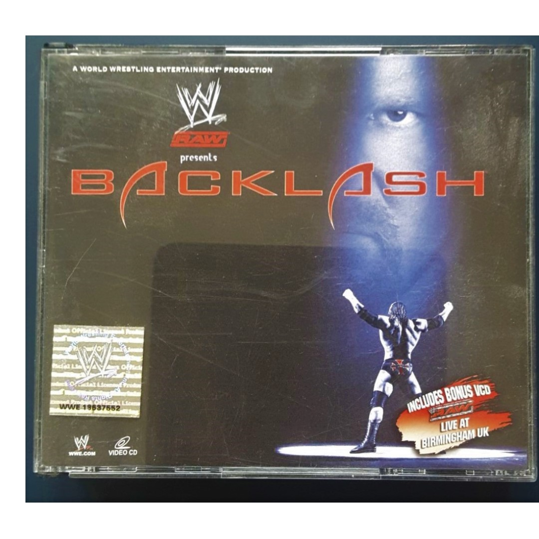 Backlash 2005 3 Disc Includes Bouns Vcd Raw Live At