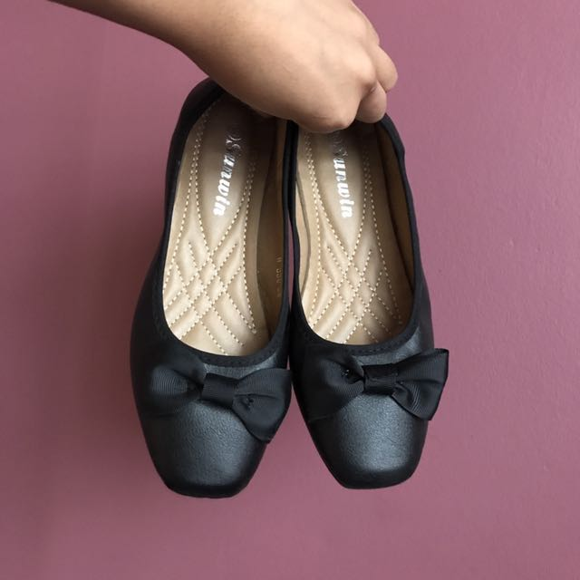 Black Ribbon Shoes