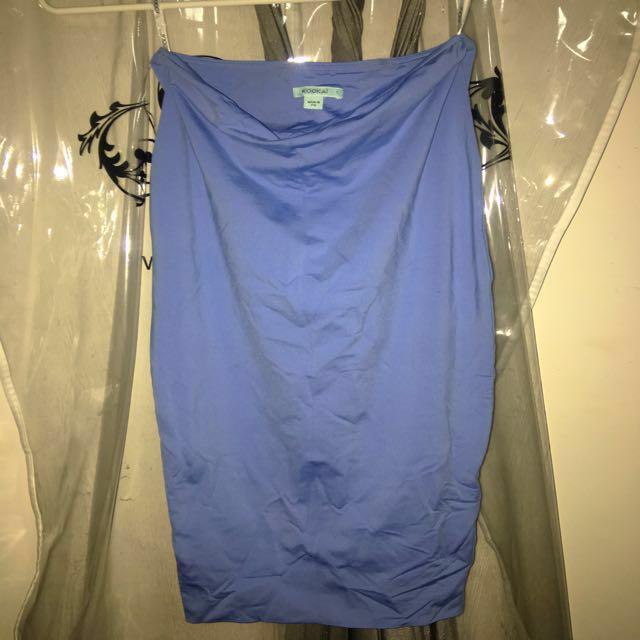 Blue midi skirt kookai