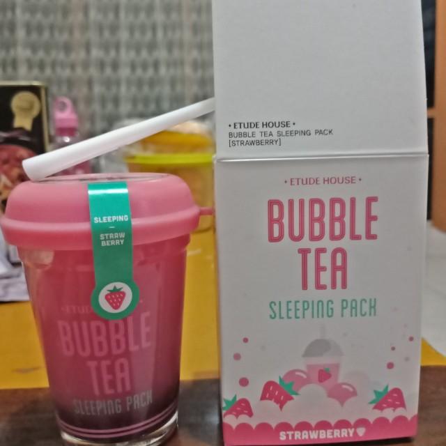 Komposisi Etude House Bubble Tea Sleeping Pack - Black Tea: Source · photo photo photo