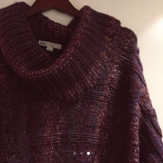 Burgundy Blend Pullover Sweater