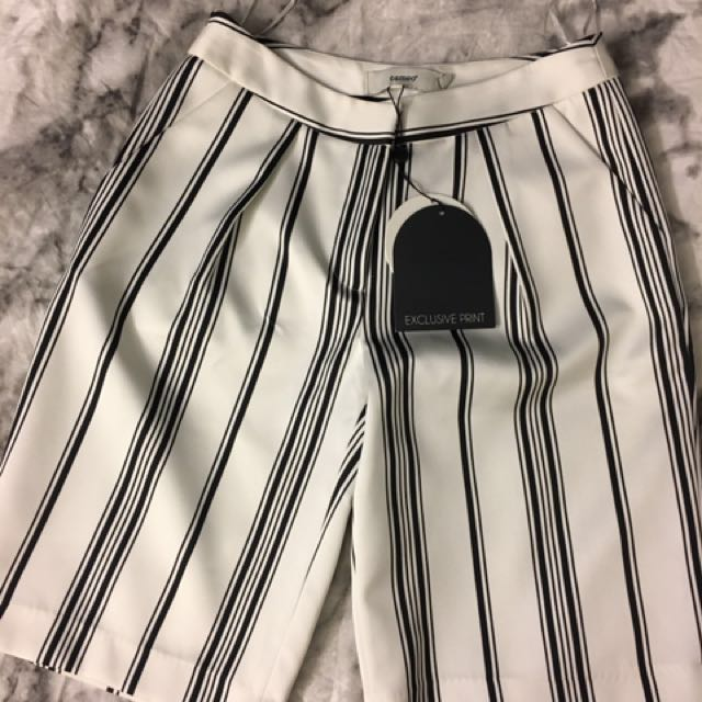 CAMEO Exclusive Black & White Stripe Shorts