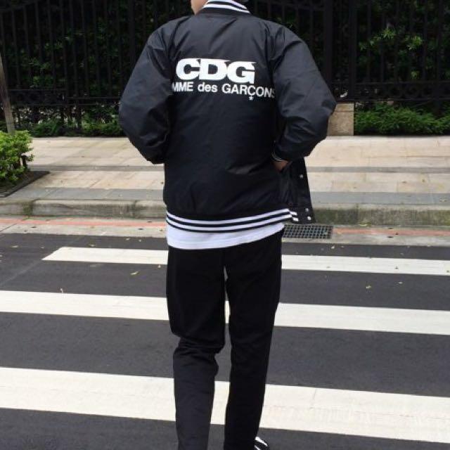 CDG 川久保玲 COMME des GARÇONS 藍色風衣棒球外套 s號 保證真品