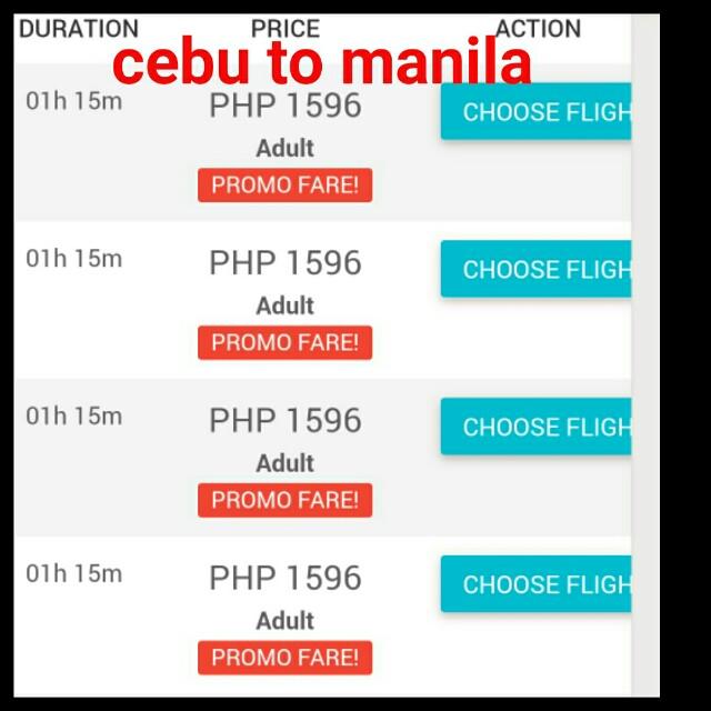 Cebu to Manila