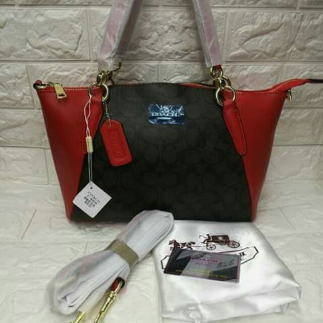 Coach with sling bag