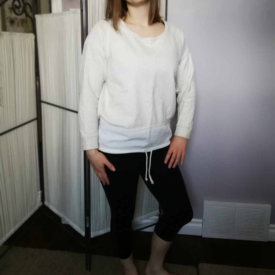 Creamy ROOTS Sweatshirt Linen Cotton Small
