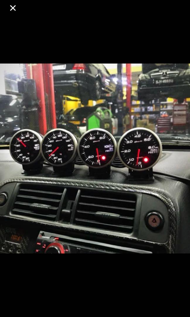 Defi BF White gauges
