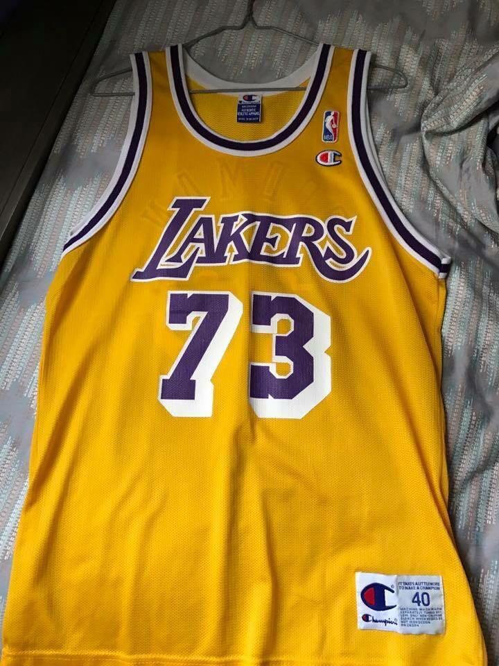 3350d1a8e6b8 Dennis Rodman Lakers champion Jersey