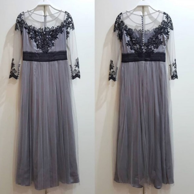 Dress Pasta Silver Brokat Kebaya Hitam Women S Fashion Women S