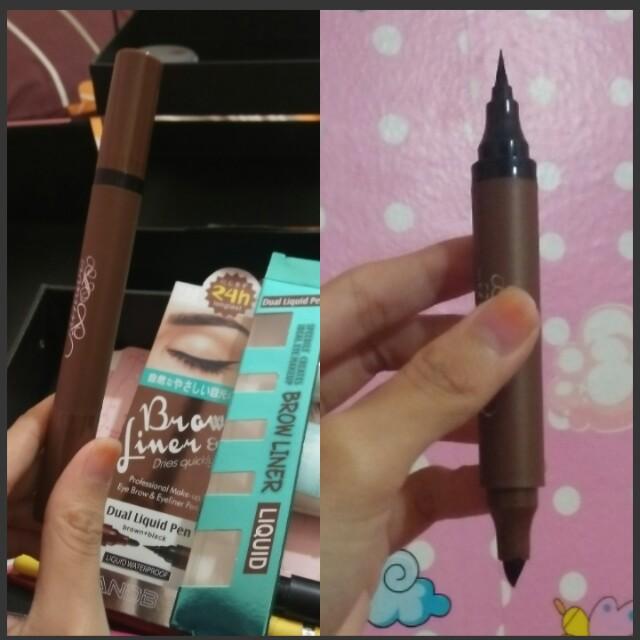 Eyeliner spidol + brow liner spidol waterpfoof