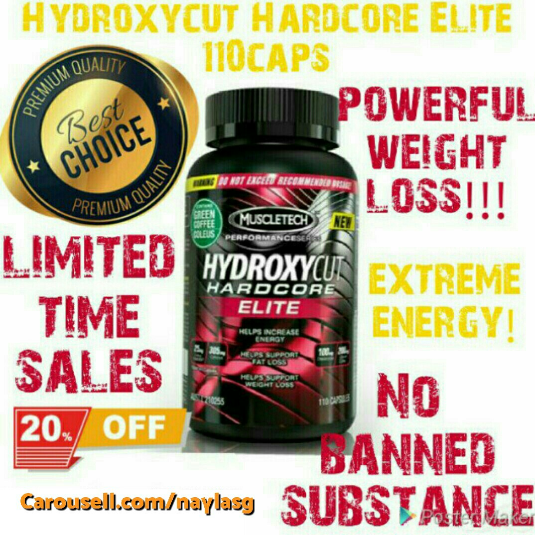 Fat Burner | Elite 110 cap $79 Hydroxycut Hardcore New | Invoice will be  provide, Sports, Sports & Games Equipment on Carousell