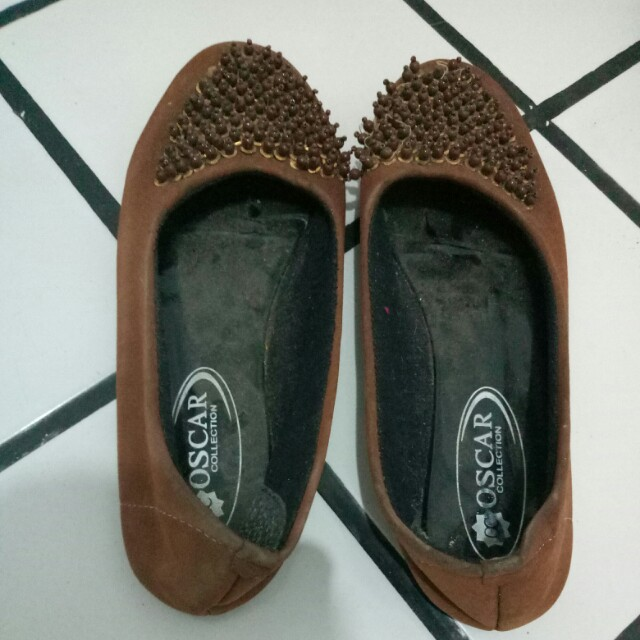 Flatshoes coklat