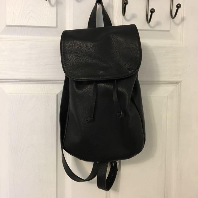 Forever21 Faux Leather Black Bag
