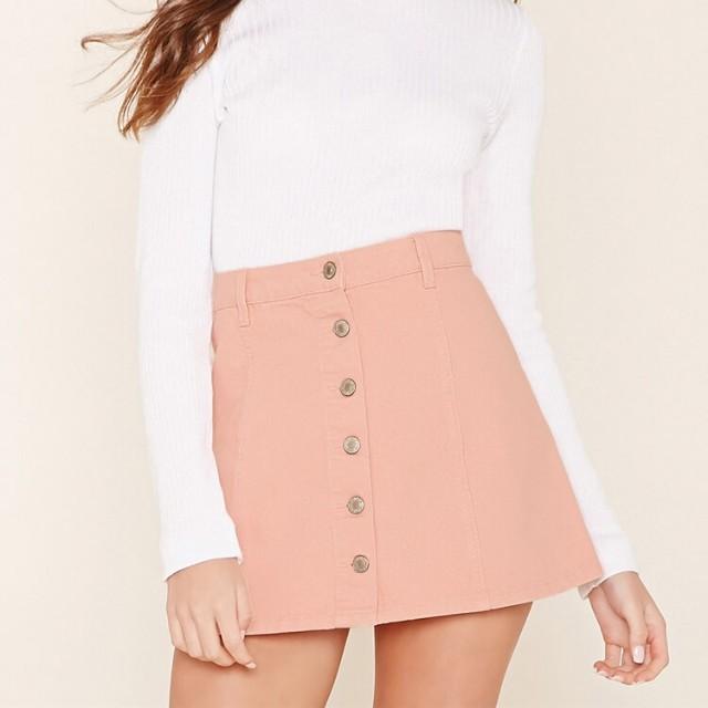 Forever21 Pink Denim Skirt
