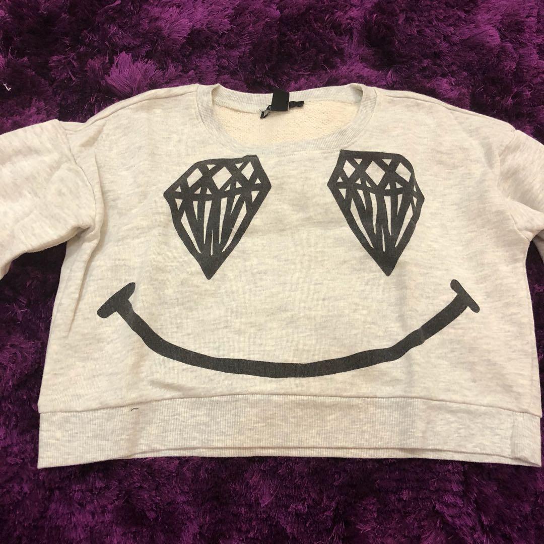 Forever 21 sweater abu lucu winter enak pake