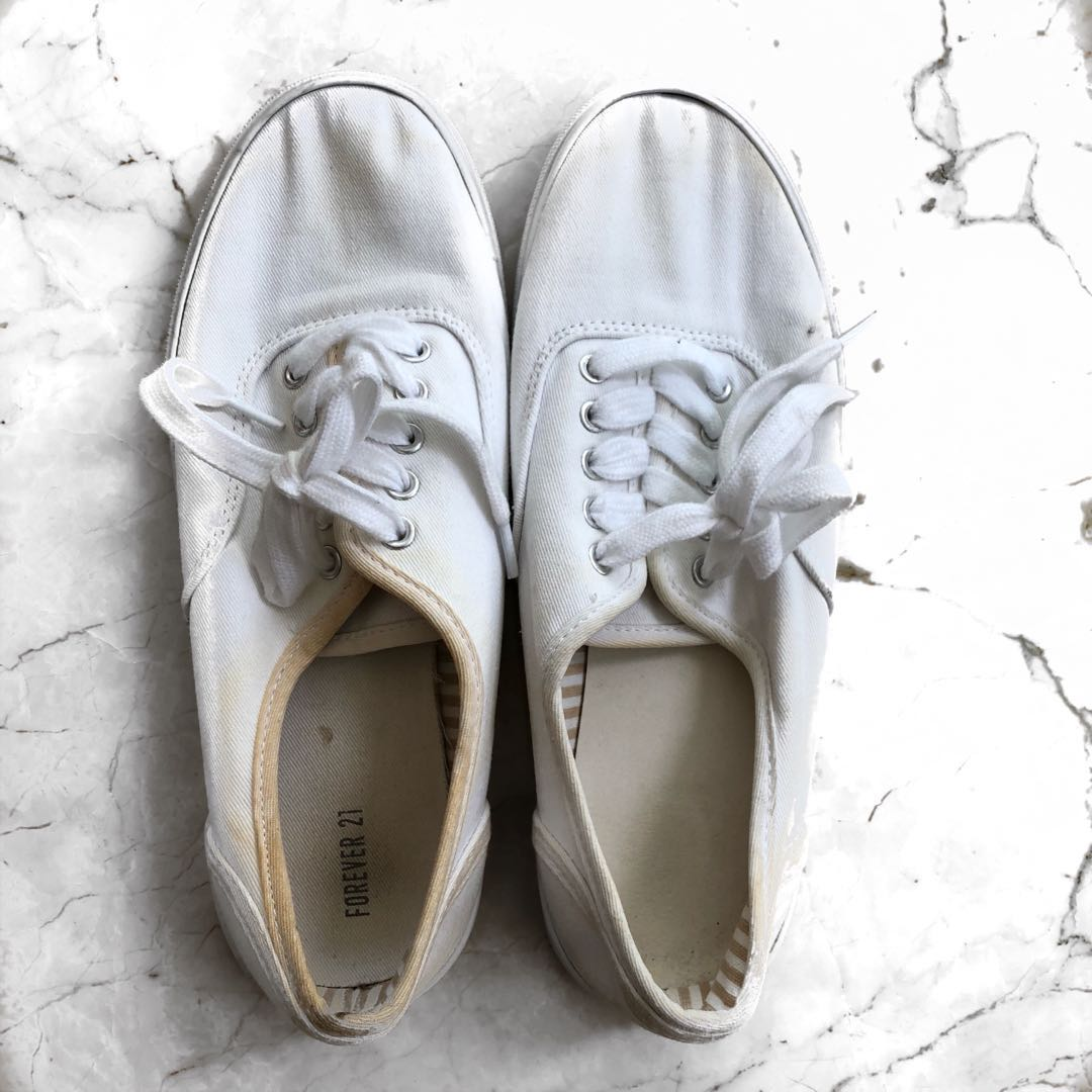 Forever 21 white sneakers