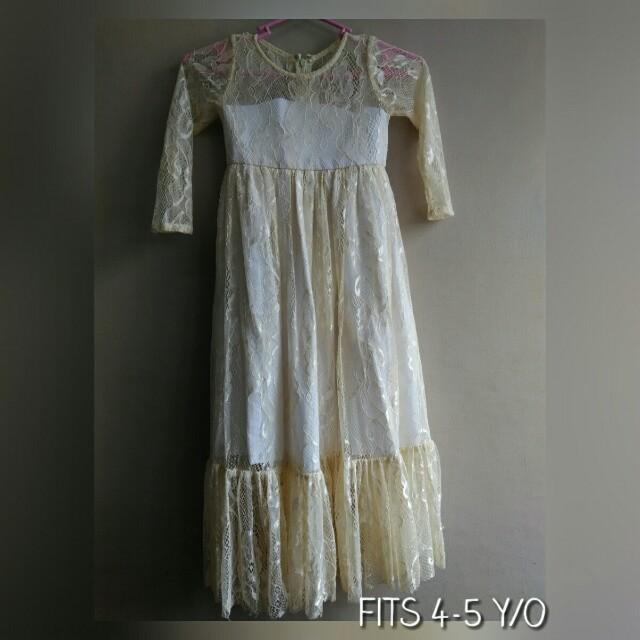 Formal gown. Boho dress. Fits 4-5 y/o