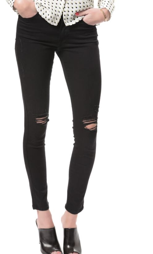 Frame Le skinny ripped jeans