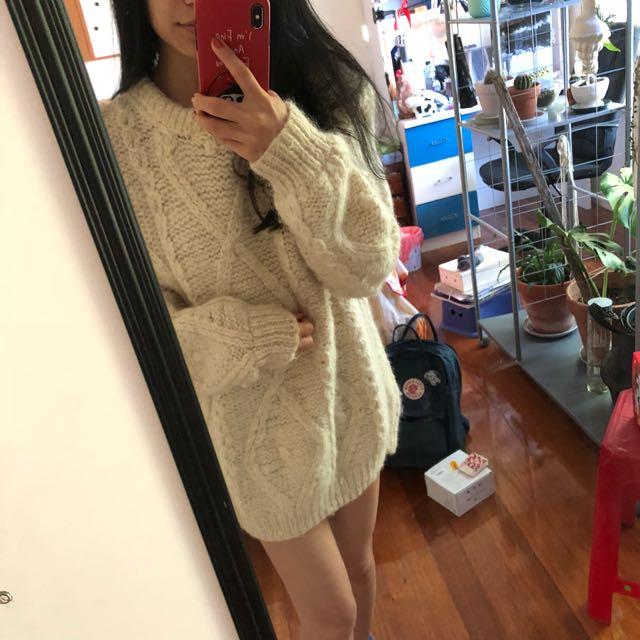 Handmade 100% wool sweater