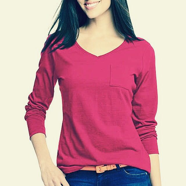 Hanes Longsleeves with Pocket