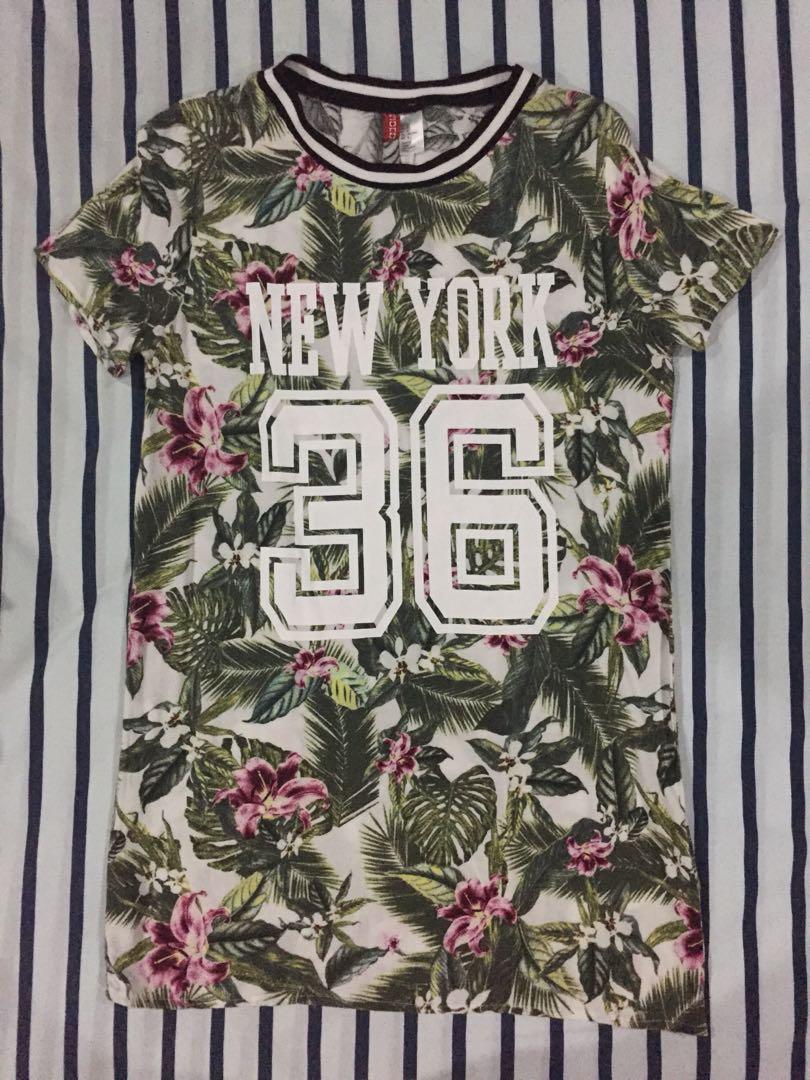 H&M floral T-Shirt Dress