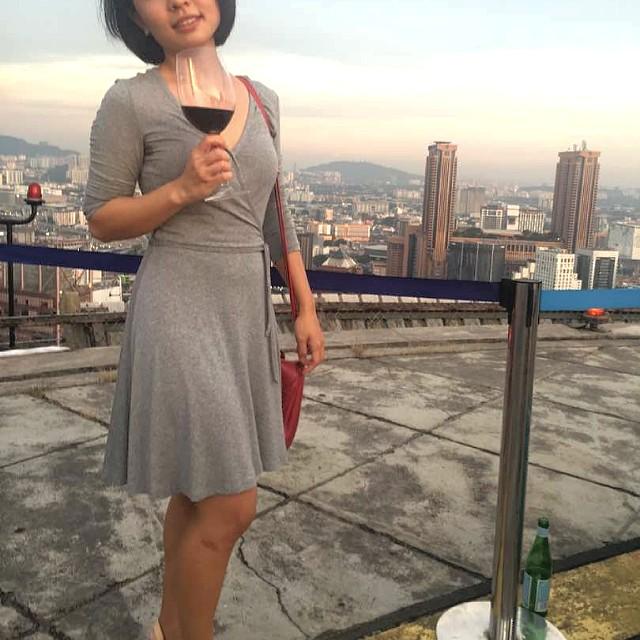 H&M Grey Cotton Kimono Style Dress