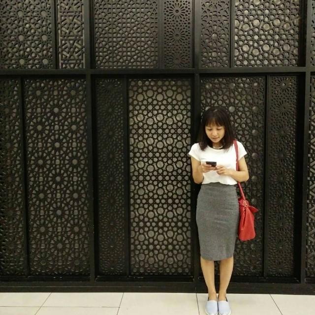 H&M Grey Jersey Skirt