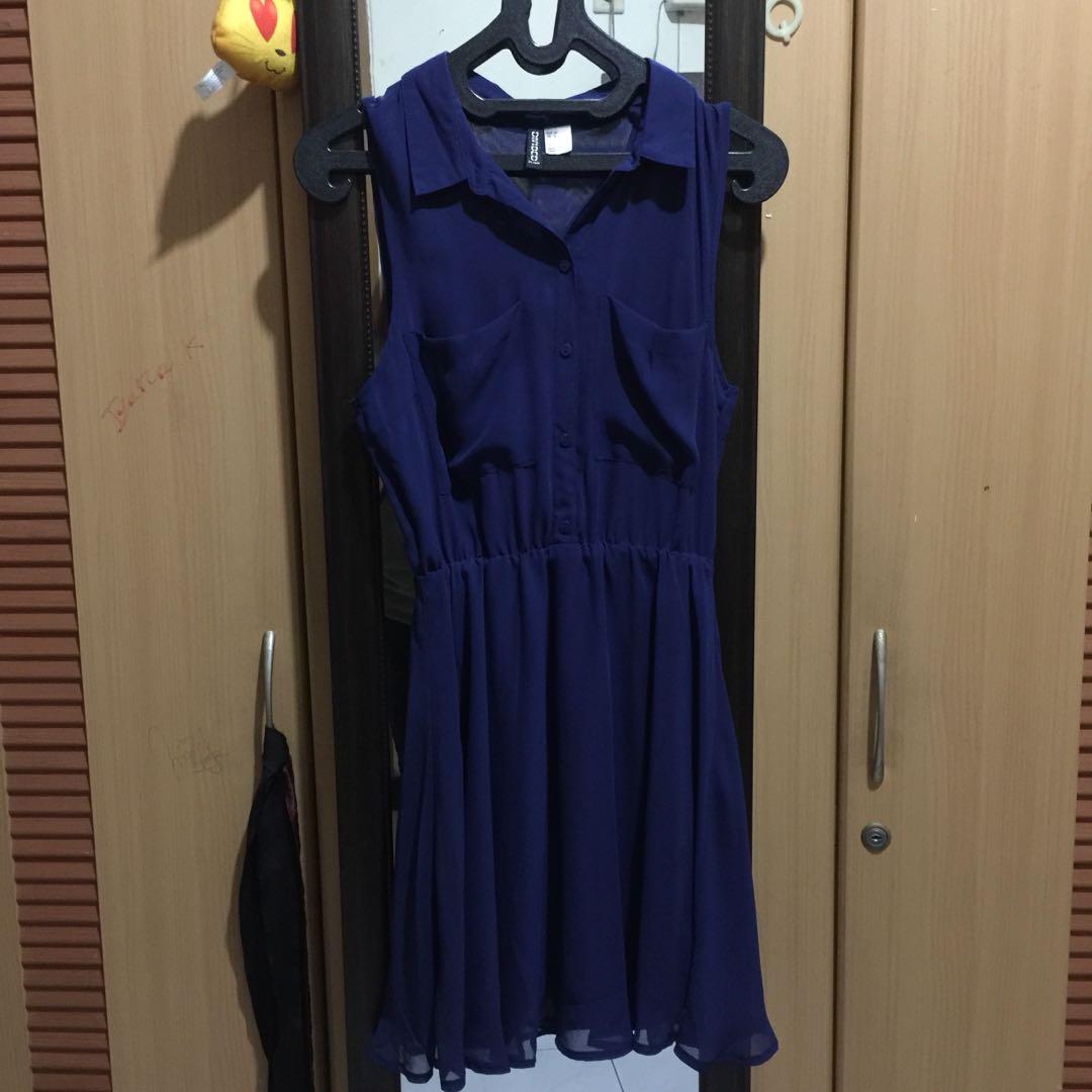 h&m navy dress