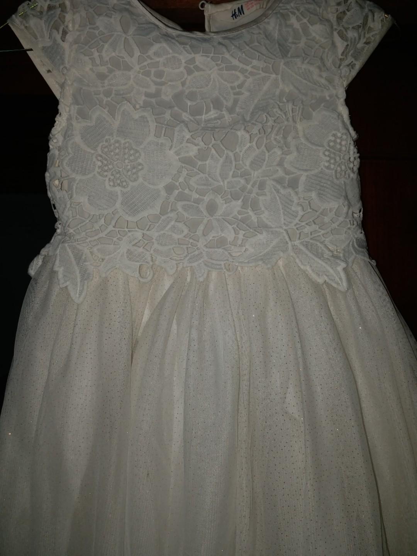 HnM white pretty dress like new rarely used