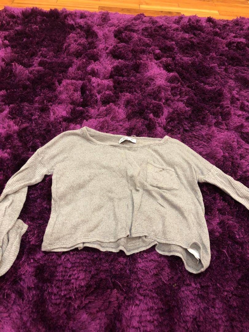 Hollister sweater tangan panjang baju winter bagus