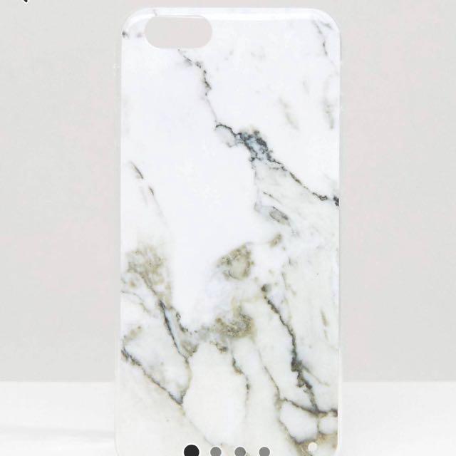 白色大理石紋iPhone 6/6s/7/7s/8 手機殼