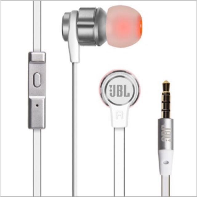 Home Jbl T180a Headset Pure Bass Stereo In Ear Headphone Flat Cable With .