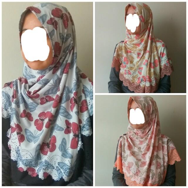 Jilbab Instan Motif