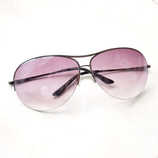 Kacamata / Sunglasses gradient purple black shade