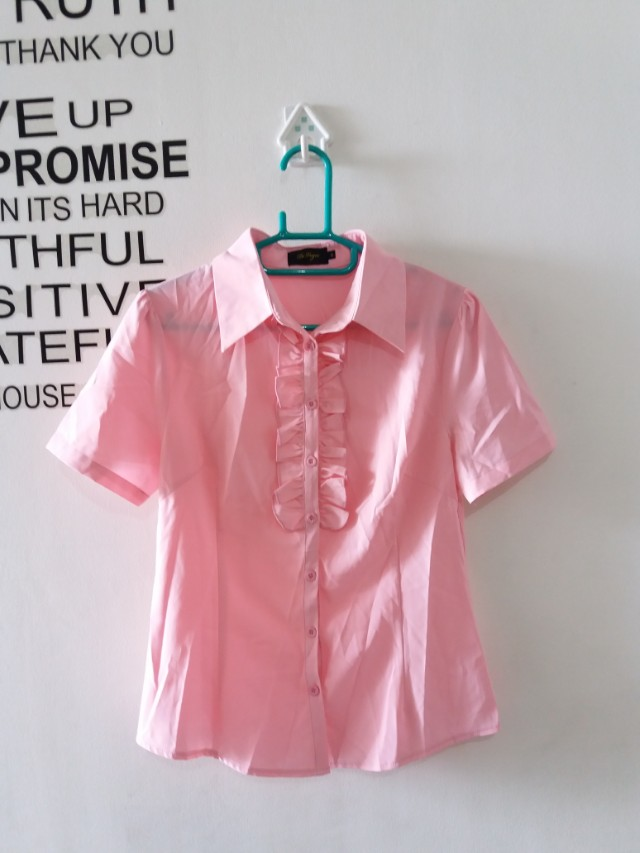 Kemeja pink formal fit to S/M
