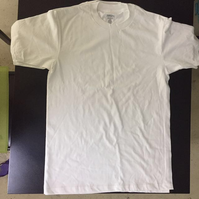 Kirkland Signature Men's Crew Neck White Tshirt