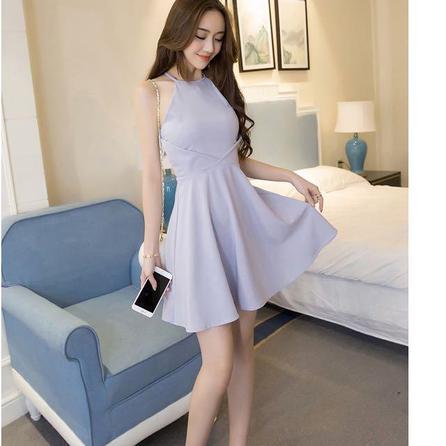 Korean Style Dress In Grey Women S Fashion Clothes Dresses Skirts On Carou