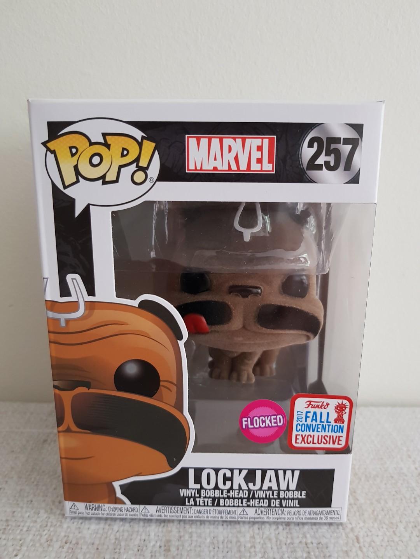 Marvel: Lockjaw Flocked Pop vinyl