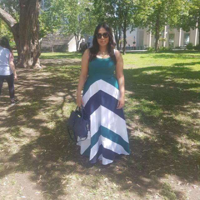 Multicoloured maxi dress