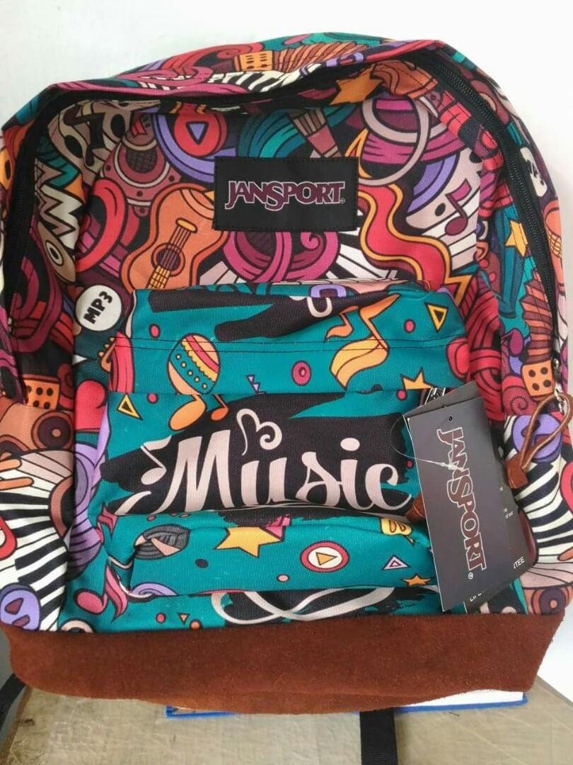 Music Designed Jansport Bag