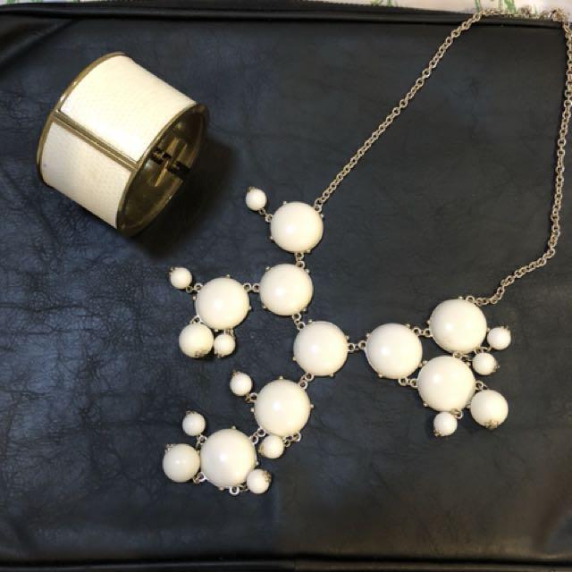 Necklace and bangle set