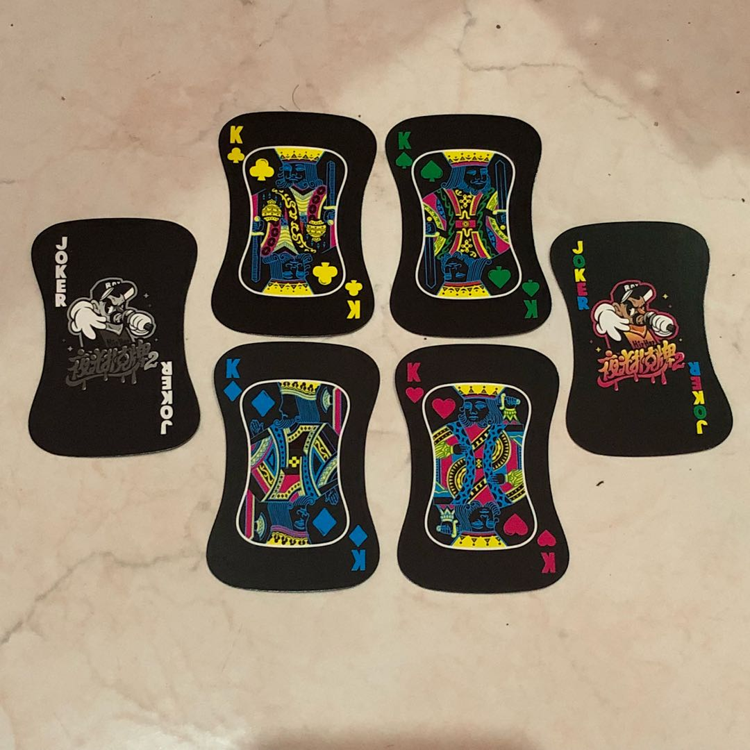 Neon Deck of Cards